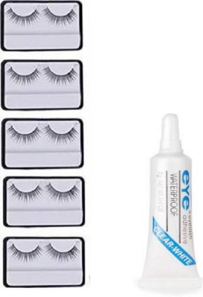 Miss Hot False eyelashes 5 pcs and 1 pcs eyelash glue (Eye combo)