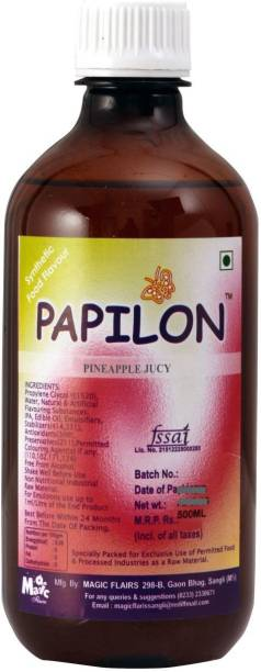 PAPILON CONCENTRATED PINEAPPLE JUCY FLAVOUR 500ML Pineapple Liquid Food Essence
