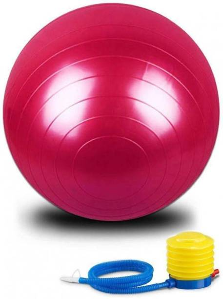 WDS High Quality 75 cm Gym Fitness Aerobics Yoga Ball/Exercise Gym Ball(Red) Gym Ball