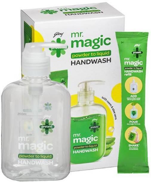 Godrej Protekt Mr. Magic Handwash Pump Hand Wash Refill + Dispenser