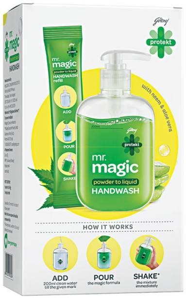 Godrej Protekt mr.magic powder to liquid Hand Wash Pump Dispenser