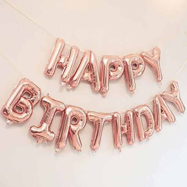 Viraat Solid Rose Gold Birthday Foil balloon Balloon
