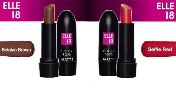 ELLE 18 Color Pops Matte Lipstick (2 Pcs)