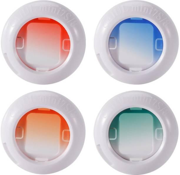 Caiul Instax Mini Gradient Color Filter Set for Instax mini 8 Mini 9 (4 pcs) Close-up Filter