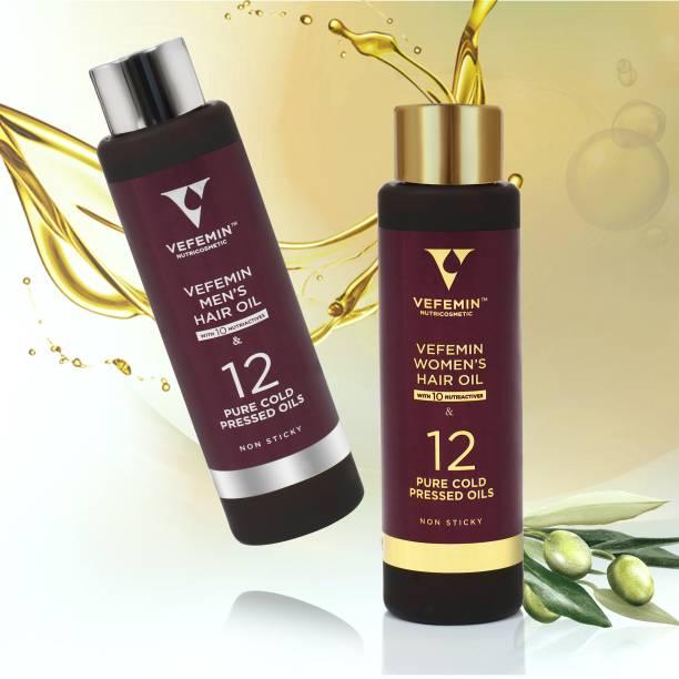 Vefemin Men's & Women's Combo Hair Oil Pack of 2 Hair Oil