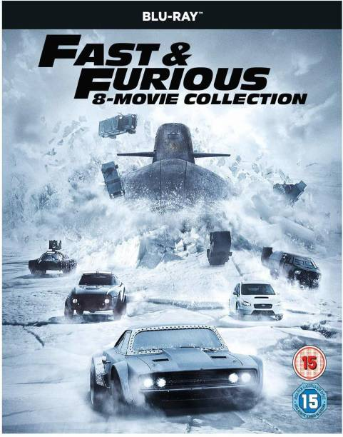 Fast & Furious: The Complete 8 Movies Collection - The Fast and The Furious + 2 Fast 2 Furious + Tokyo Drift + Fast & Furious + Fast Five + Fast & Furious 6 + Furious 7 + The Fate of the Furious (8-Disc Box Set) (Region Free) (Fully Packaged Import)