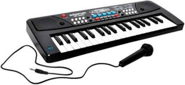 KidsBazaar Key electronic Keyboard Toy Organ, Recording and Mic ac mobile charger point include
