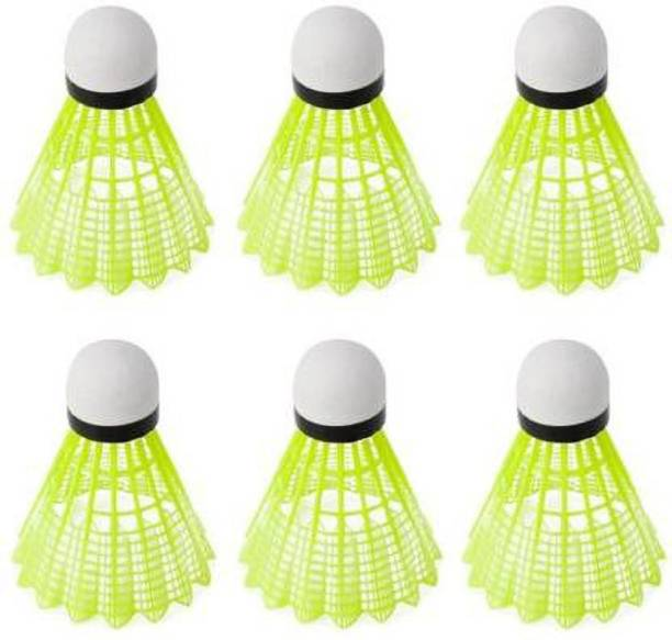 Monika Sports Pack of 6 Nylon Shuttle Nylon Shuttle  - Green