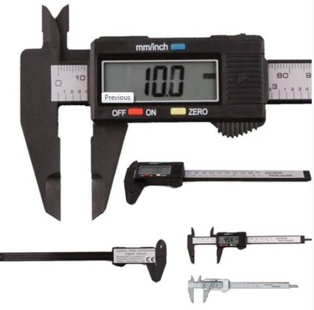 oleander MASS PRO Electronic Digital Vernier Caliper with Extra Large LCD Screen Paquimetro Micrometer With Box, 150mm (0 - 6 Inches) Metric or Imperial Dual Reading, Fine Adistment Roller, Hardened Stainless Steel, Four Measurement Functions, Inch/Fractions/Millimeter Conversion digtal calipr Digital Caliper Digital Caliper