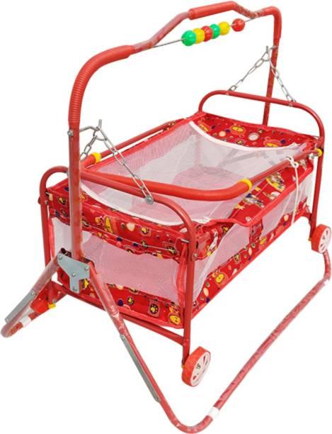 Confiado New born baby cradle With Swing bassinet Cum Stroller(jhula) (palna) molde-C5