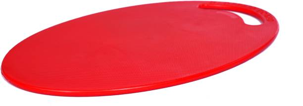 Pinkwhale New Fruit & Vegetable Oval Shape Chopping Board Red Color Plastic Cutting Board