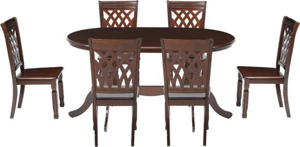 WOODNESS Solid Wood 6 Seater Dining Set