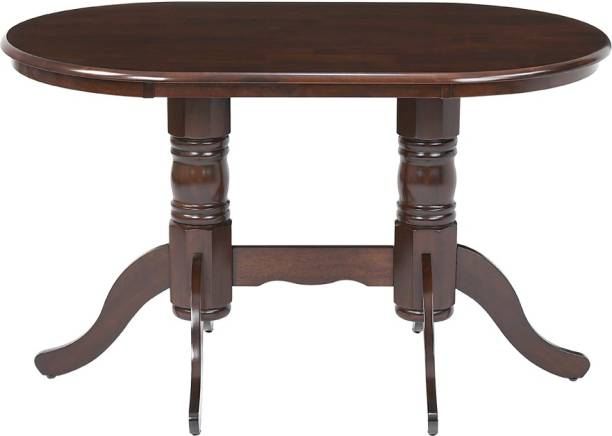 WOODNESS Solid Wood 6 Seater Dining Table