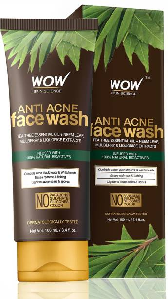 WOW SKIN SCIENCE Anti Acne  - OIL Free - No Parabens, Sulphate, Silicones & Color Face Wash