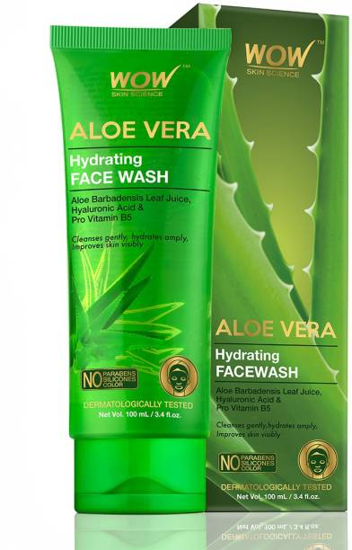 WOW SKIN SCIENCE Aloe Vera Hydrating  - 100 mL- Tube Face Wash