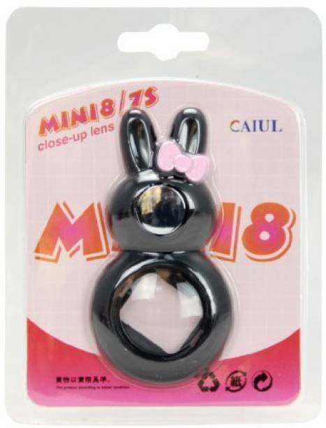 Caiul Mini 9, 8 Rabbit Style Selfie Mirror Close Up Lens (Black) Close-up Filter