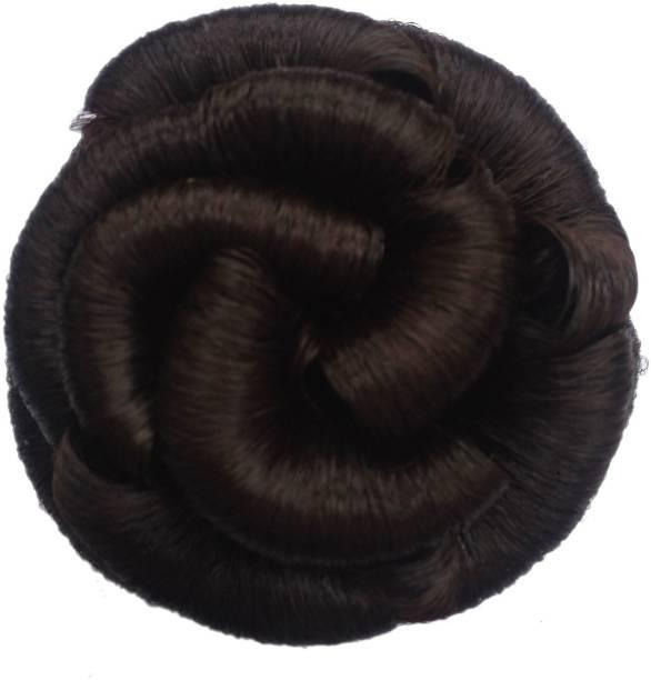 Maahal Hair Extension Juda For Girls And Women Artificial Juda Bun Natural Brown Pack Of 01 Bun