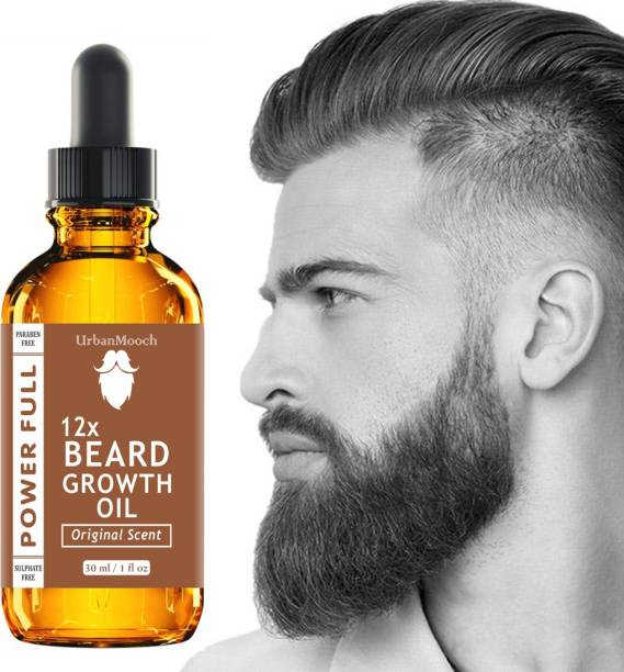 UrbanMooch 12X -PowerFull Beard Growth Oil, Moustache Oil Hair Oil