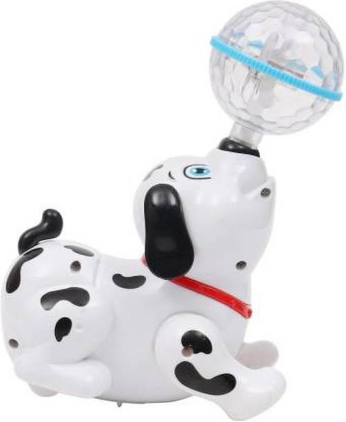 Kidz N Toys Dancing Dog with Music Flashing Lights
