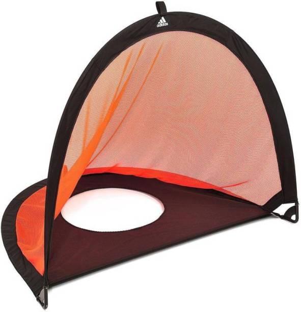 ADIDAS Nylon Pop-up Goal and Target 6 feet (Orange, Black Football) Football Net