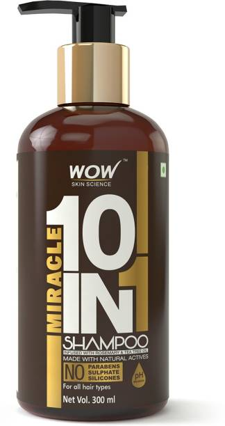 WOW SKIN SCIENCE Miracle 10 in 1 Shampoo-No Sulphate & Parabens