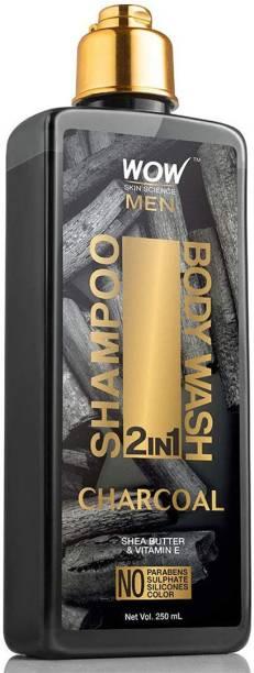 WOW SKIN SCIENCE Charcoal 2-in-1 Shampoo + Body Wash