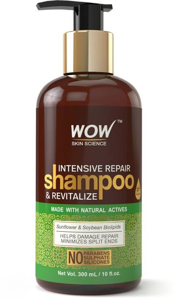WOW SKIN SCIENCE Intensive Repair Shampoo and Revitalize - No Parabens, Sulphates & Silicones