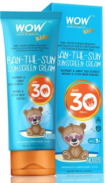 WOW SKIN SCIENCE Kids Ban-the-Sun Sunscreen Cream - SPF 30+ PA+++ - SPF 30+ PA++