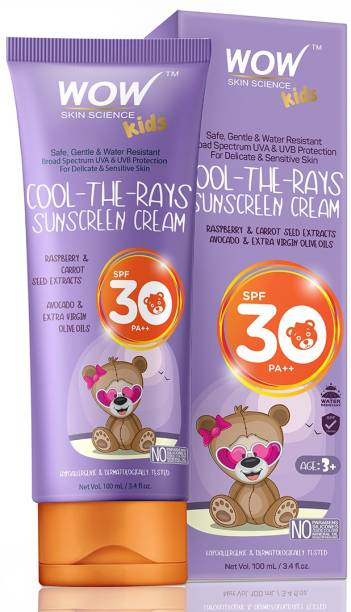 WOW SKIN SCIENCE Kids Cool-the-Rays Sunscreen Cream - SPF 30+ PA+++ - SPF 30+ PA+++