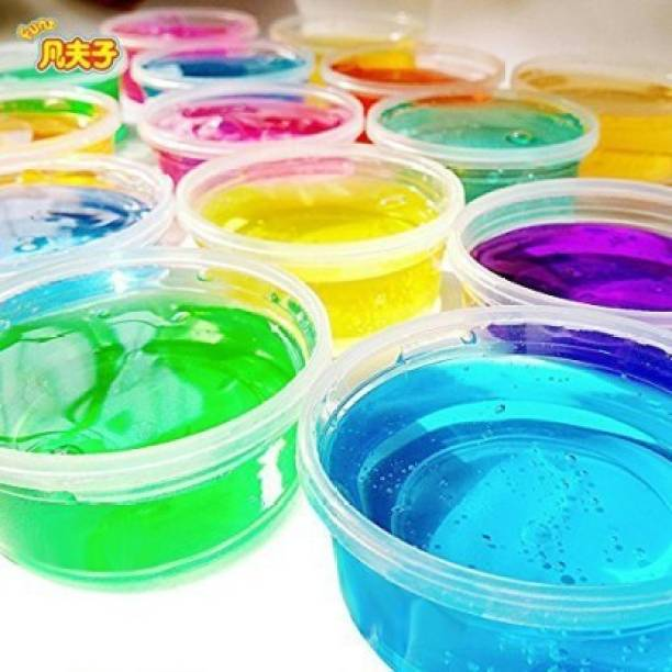 JSS You Putty Crystal Clay Soft Slime Magic Mud Toy 12 Tins With 12 Color Pack Of 1