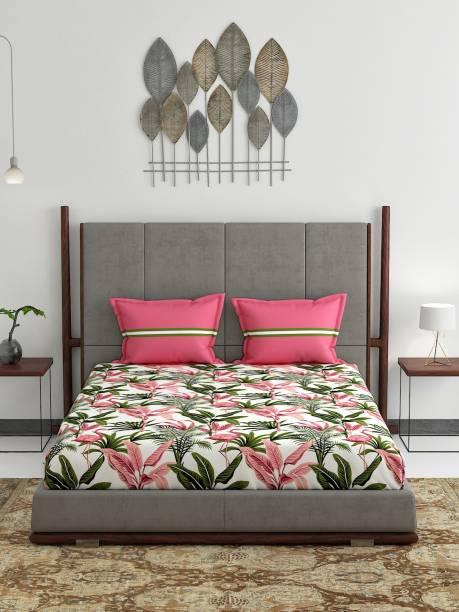 TRIDENT 120 TC Cotton Double Floral Bedsheet
