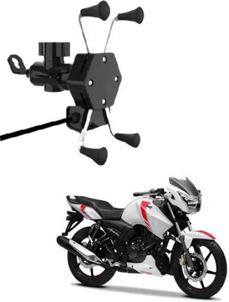 vizzye MultiFunctional Mobile Holder with USB Charger(Black)-912 2.1 A Bike Mobile Charger