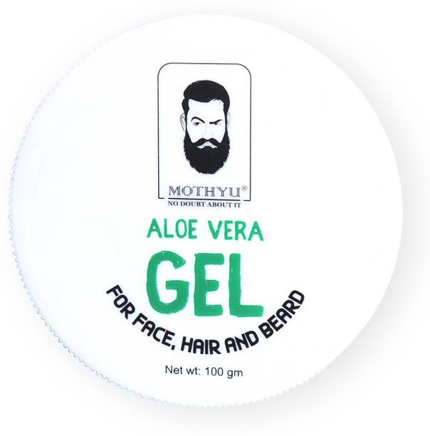 MOTHYU Aloe Vera Gel For Hair, Face & Beard
