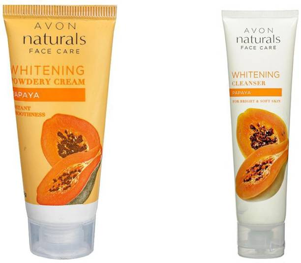 AVON Natural face care whitening powdery cream & cleanser