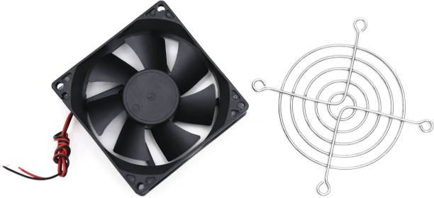 Electronic Spices DC 12V Cooling Fan for PC Case, CPU Cooler Radiator Comes With 3INCES GRILL Cooler