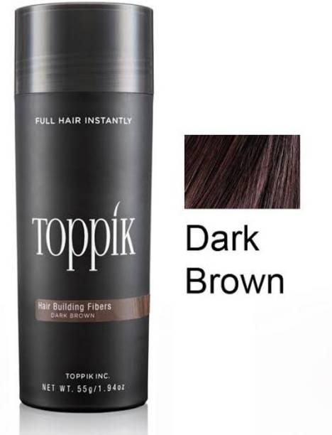 toppik Hair Building Fibers Dark Brown Hair Building Fibers Dark Brown Holds till it is washed off the hair Hair Volumizer Powder Type