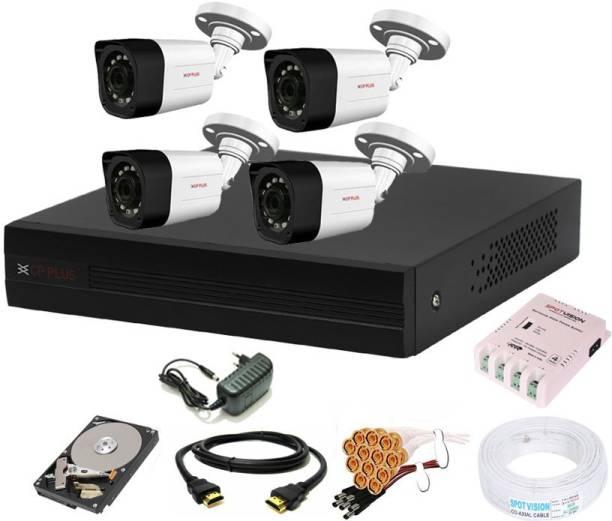 CP PLUS 4 Channal HD DVR 1080p 1Pcs,Outdoor Camera 2.4 MP 4Pcs,1 TB Hard Disk,Full combo set Security Camera