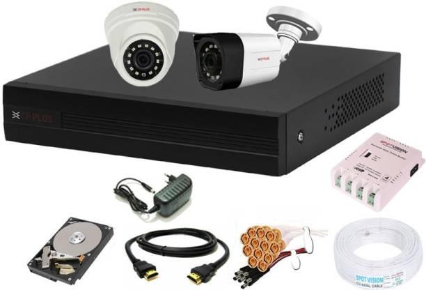 CP PLUS 4 Channal HD DVR 1080p 1Pcs,Outdoor Camera 2.4 MP 1Pcs,Indoor Camera 2.4 MP 1Pcs,500 GB Hard Disk,Full combo set Security Camera