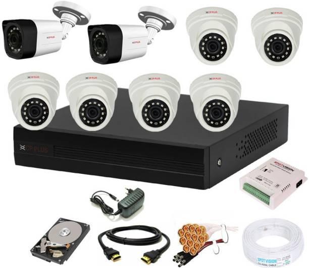 CP PLUS 8 Channal HD DVR 1080p 1Pcs,Outdoor Camera 2.4 MP 2Pcs,Indoor Camera 2.4 MP 6Pcs,1 TB Hard Disk,Full combo set Security Camera