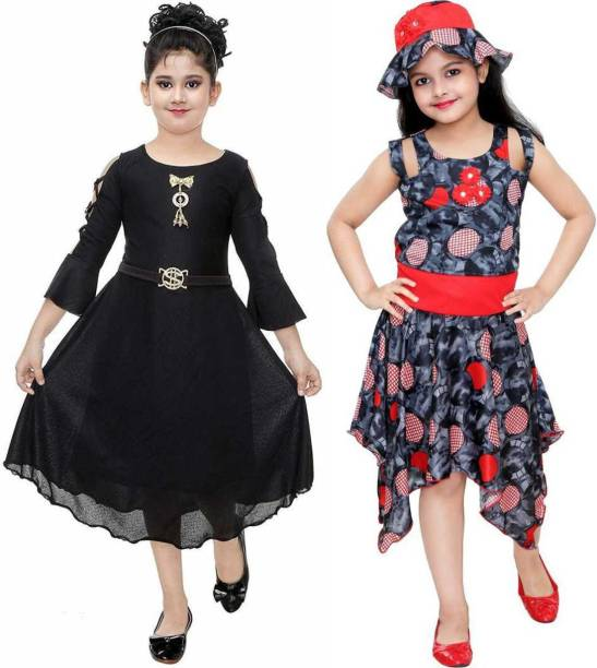 FTC FASHIONS Girls Below Knee Party Dress