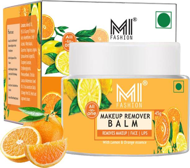 MI FASHION Makeup Remover Balm For Face and Lips Made in India 100% Veg Easy to Remove Makeup With Lemon and Orange Makeup Remover