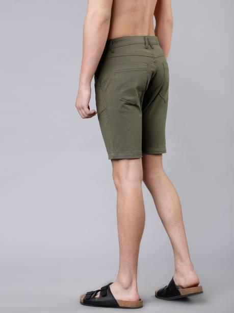 HIGHLANDER Solid Men Green Chino Shorts