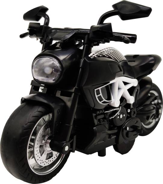 Miss & Chief 1:14 Pull Back Metal Die Cast Bike with Light and Sound