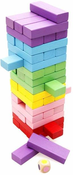 HARIJI Challenging Maths Jenga Game for Adults and Kids. Make Maths Fun for Kids or Have Party Fun (Color)