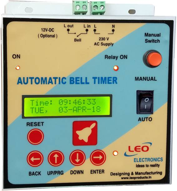 Leo Automatic School Bell Timer Programmable Electronic Timer Switch