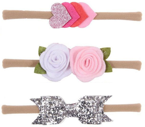 SALE Handmade Girls Pink Silver Spot Hair Bow Clips sold in Pairs On Clips