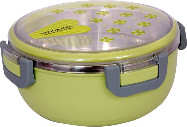 AKR STYLISH BPA FREE LEAK PROOF STAINLESS STEEL SINGLE COMPARTMENT 1 CONTAINER LUNCH BOX ( 500 ML ) 1 Containers Lunch Box