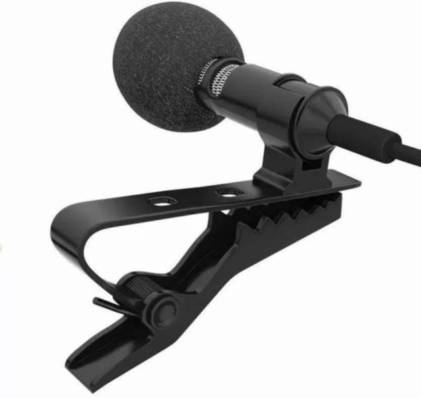 WORLD ONLINE Common 3.5mm Clip Microphone | Collar Mike for Voice Recording | Mic Mobile, PC, Laptop, Android Smartphones, DSLR Camera Microphone