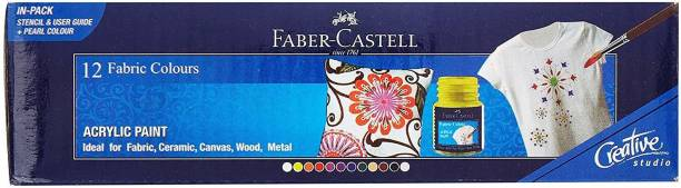 FABER-CASTELL 12 Fabric Colour