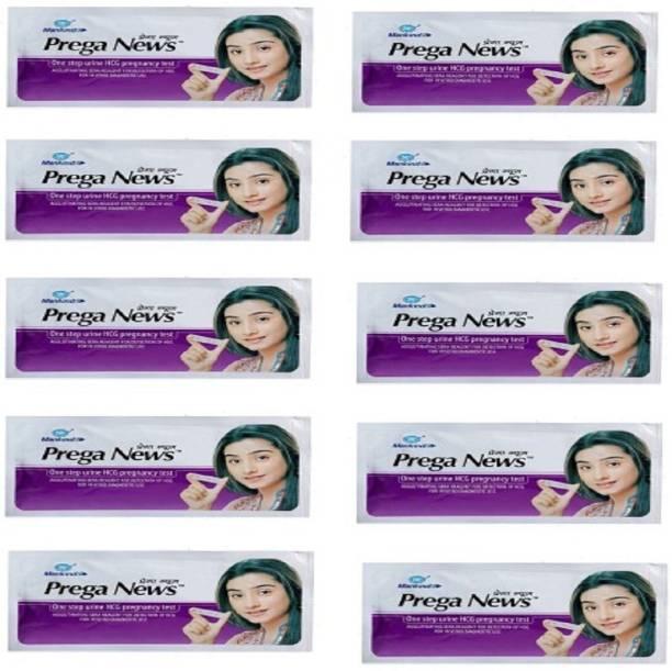 PREGANEWS Prega news combo of 10 Pregnancy Test Kit